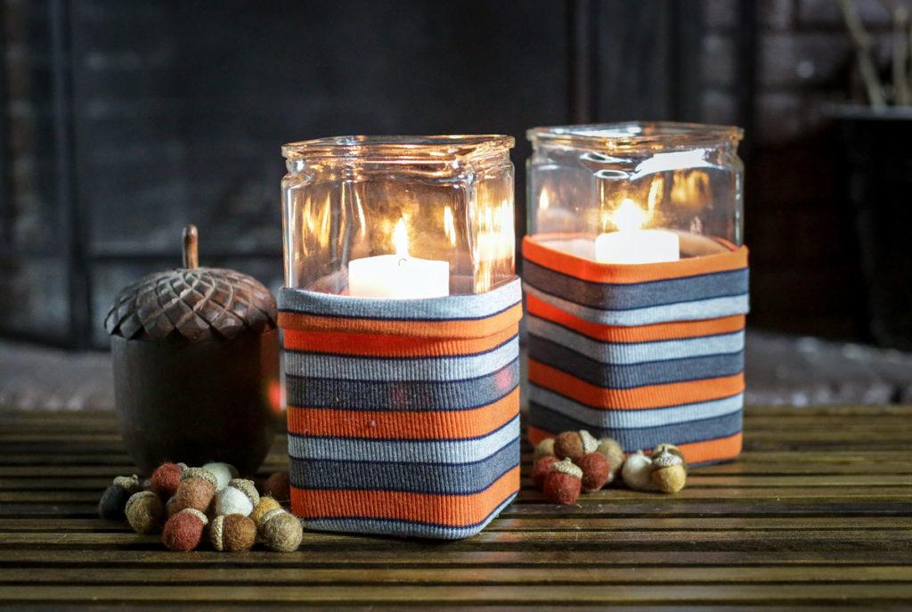 DIY hurricane candle wraps