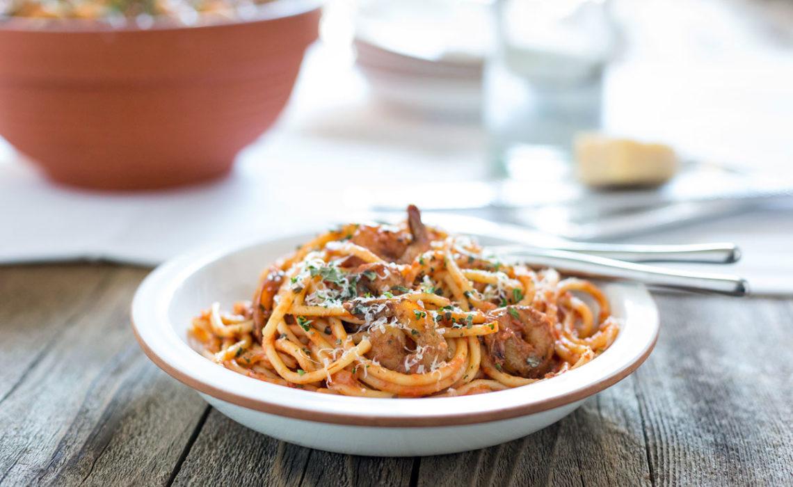 Monday Menu: Spicy Shrimp Bucatini