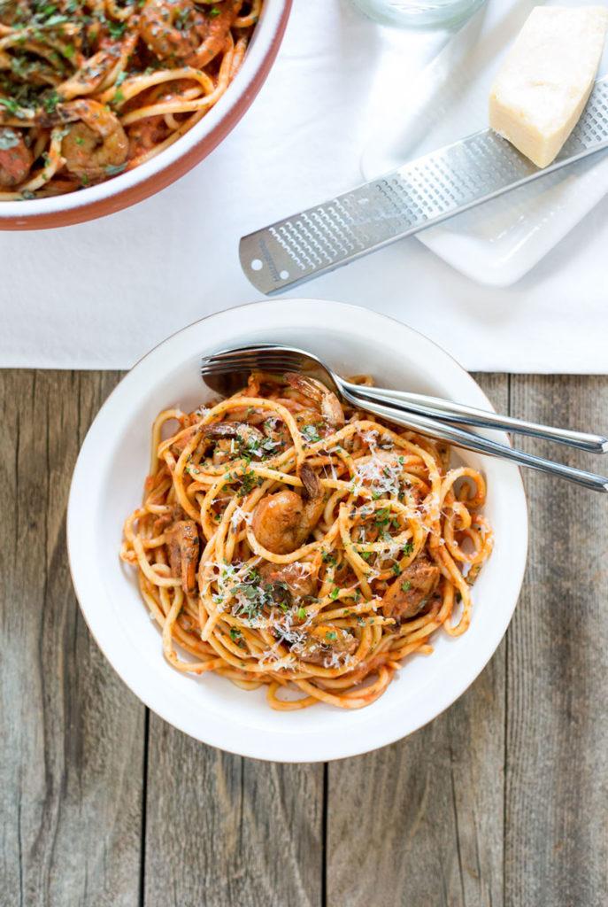 spicy shrimp bucatini recipe