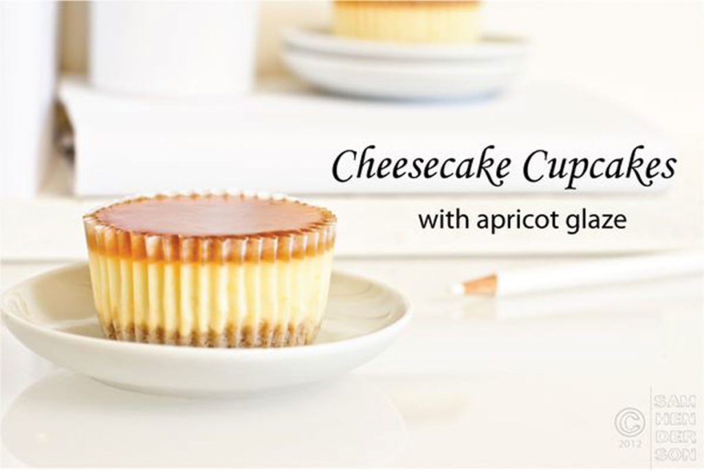 cheesecake cupcakes with apricot glaze recipe