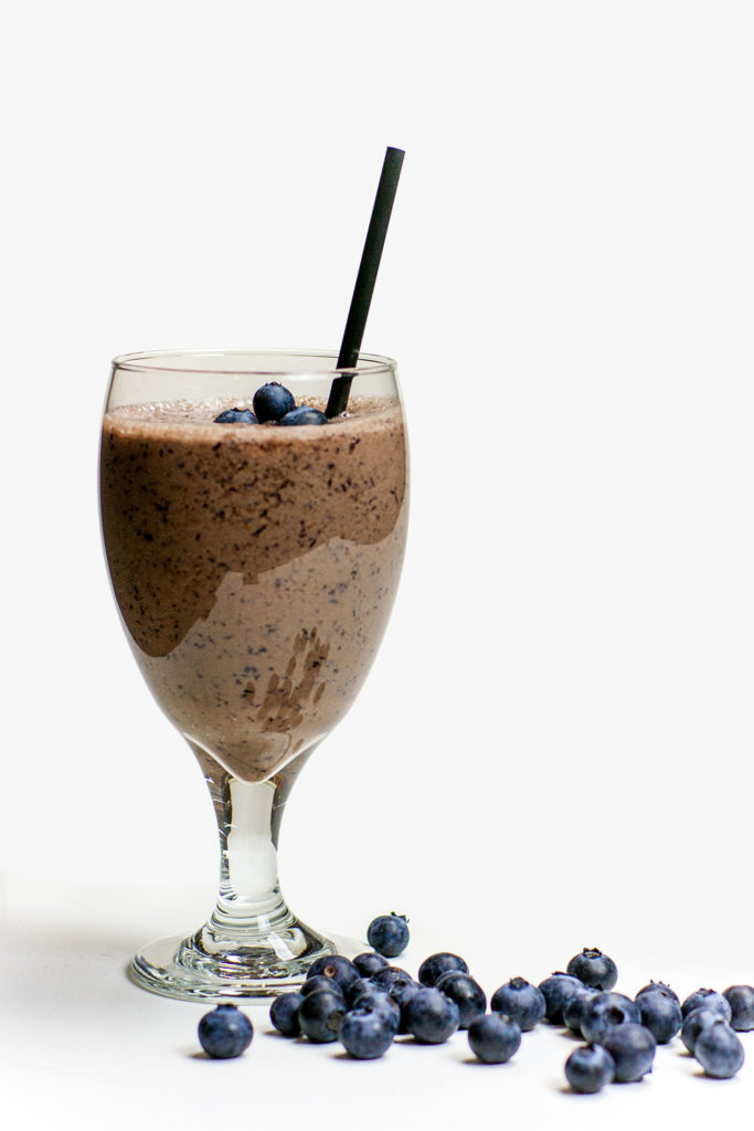 healthy chocolate blueberry smoothie recipe