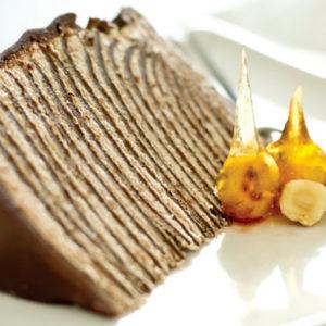 hazelnut chocolate crepe cake recipe
