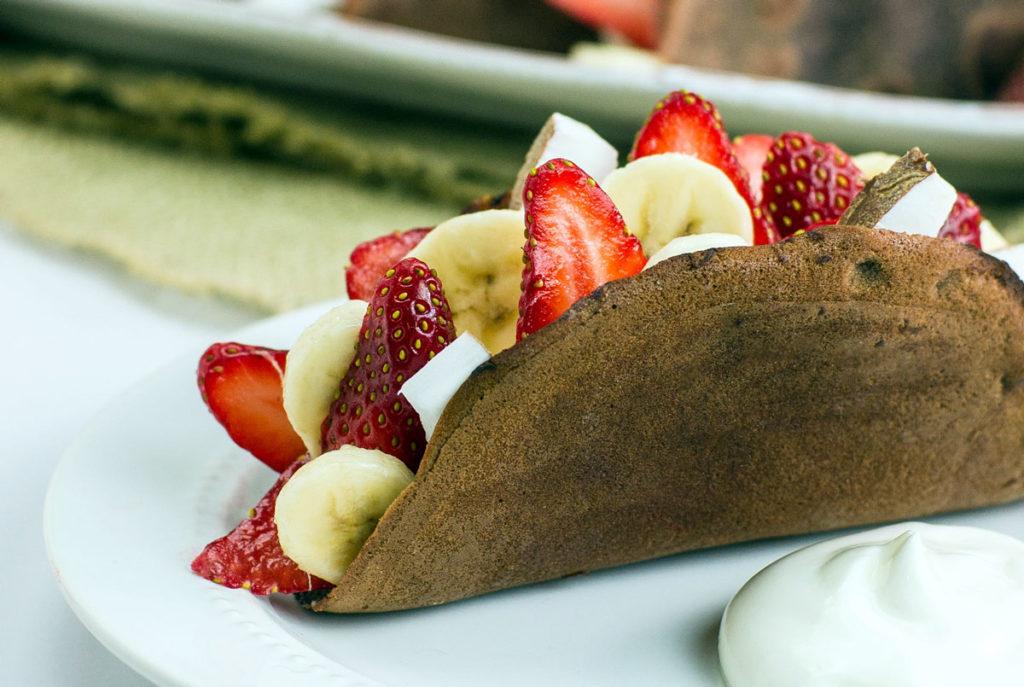 fruit filled chocolate taco recipe