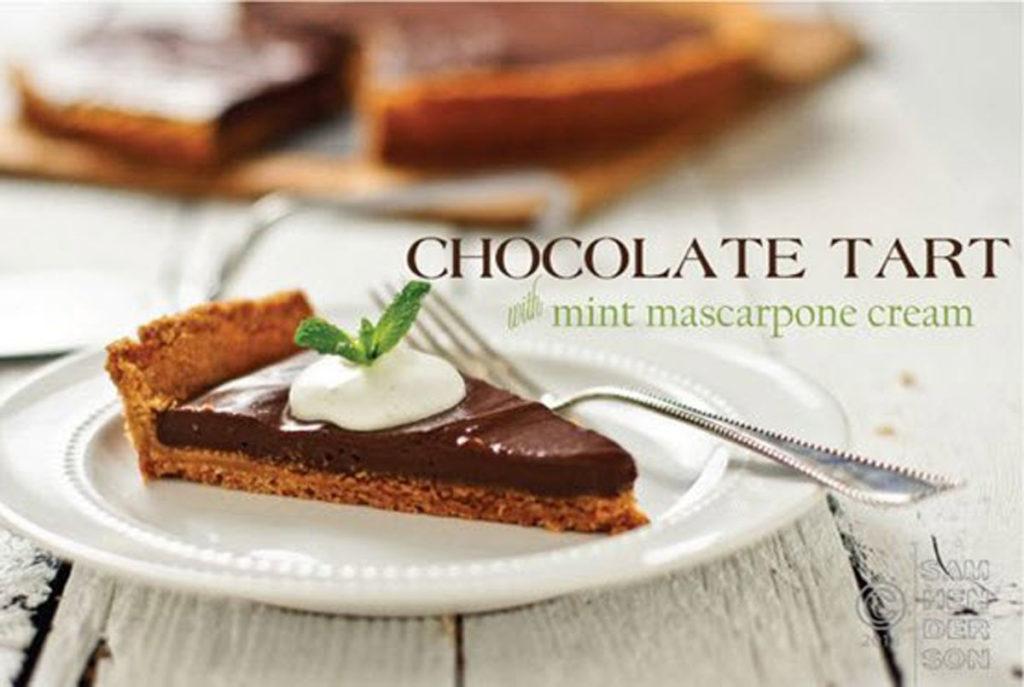 chocolate tart with mint mascarpone recipe