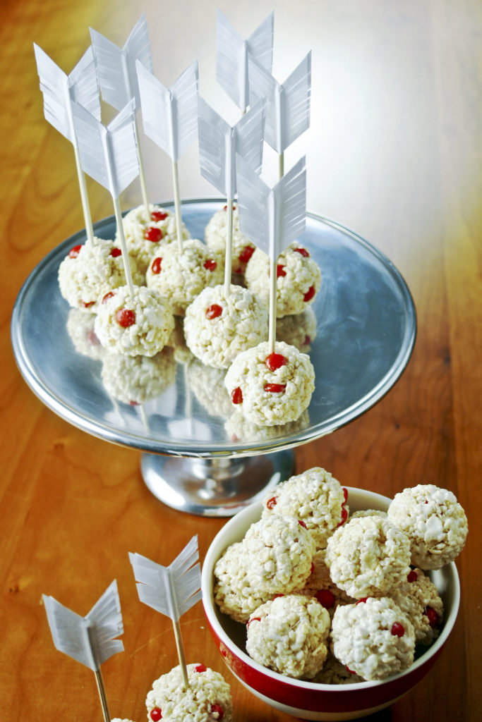 cupid krispies valentine treat recipe diy