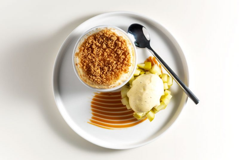 apple crumble souffle