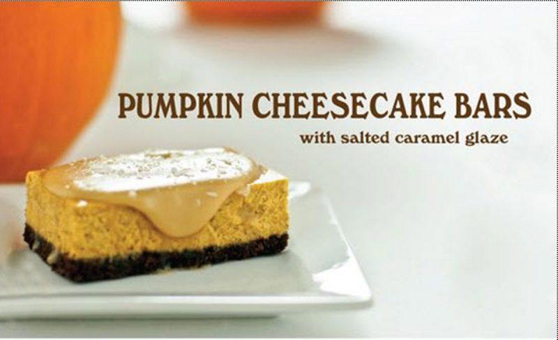 pumpkin cheesecake bar recipe