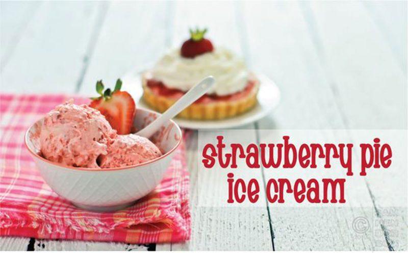 strawberry pie ice cream recipe
