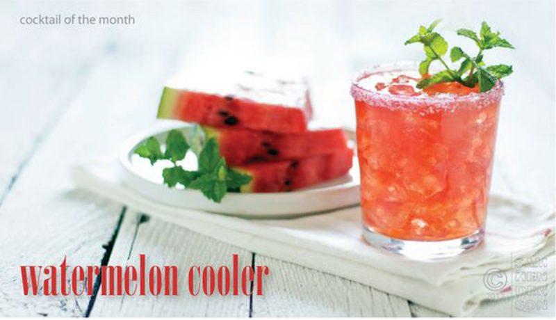 watermelon cooler cocktail recipe
