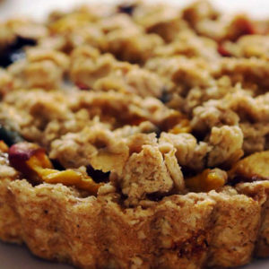 ginger peach blueberry tart recipe