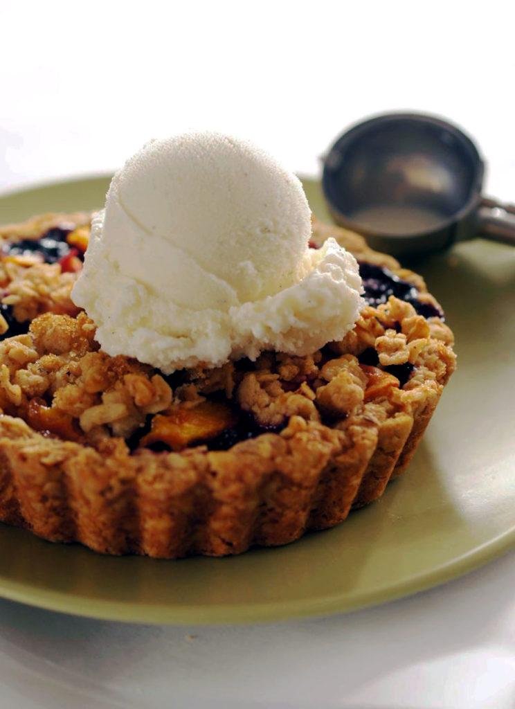 ginger peach blueberry tart recipe