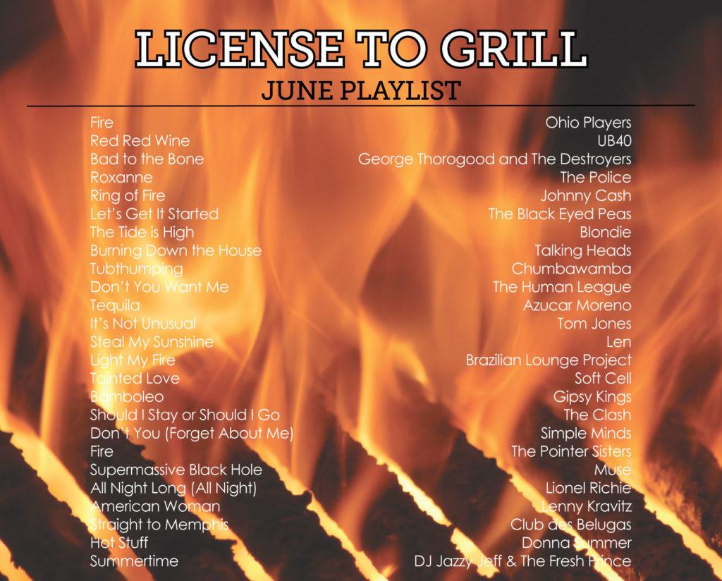 grilling playlist
