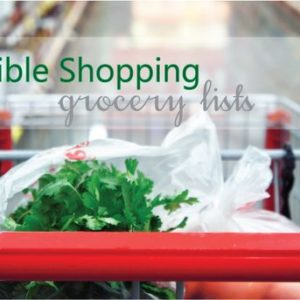 grocery list tips and printable