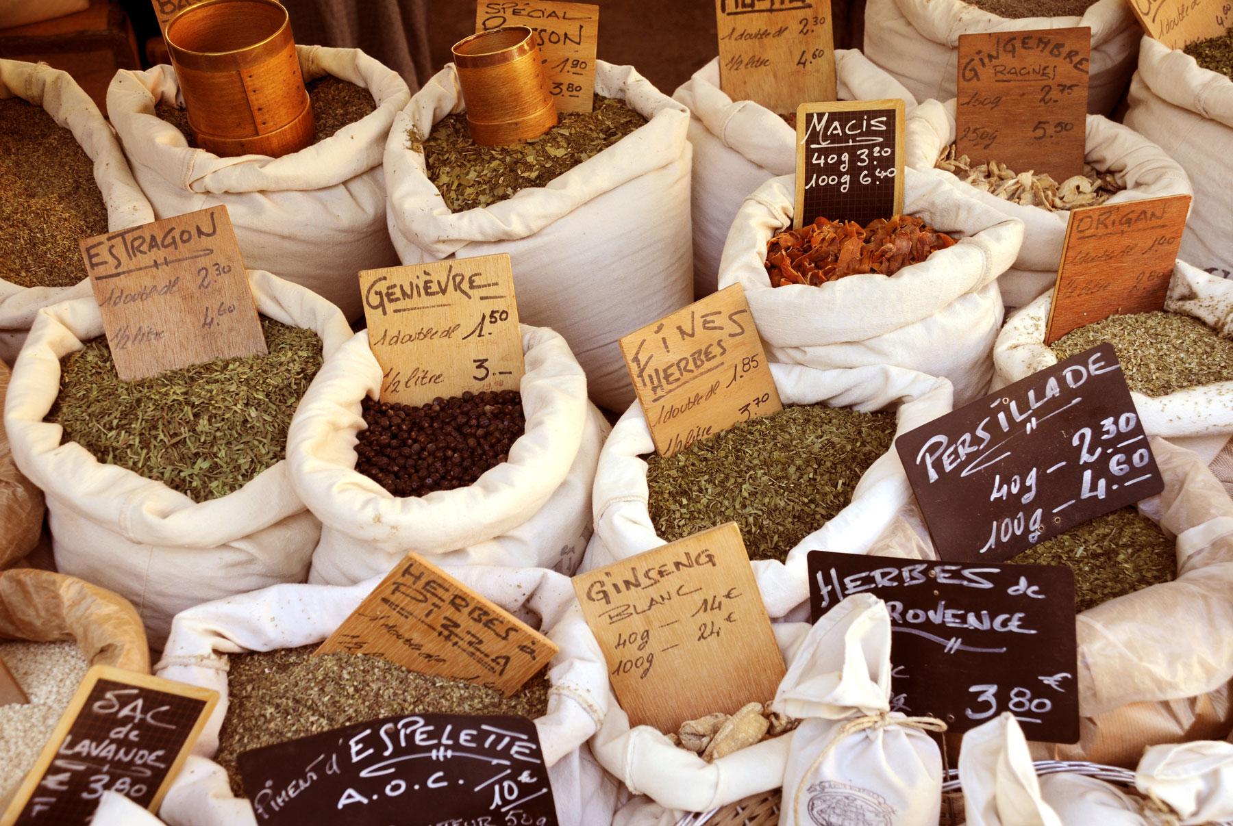 herbs in market