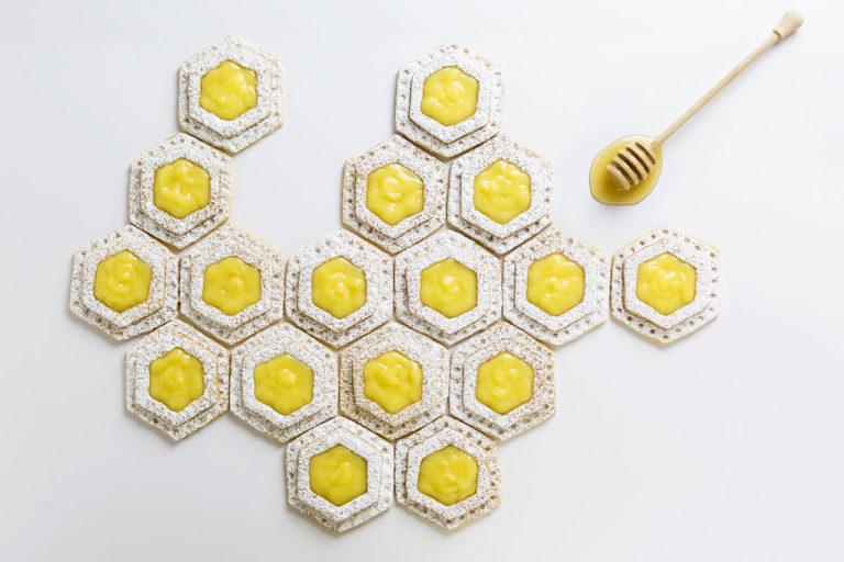 lemon filled honey shortbread recipe
