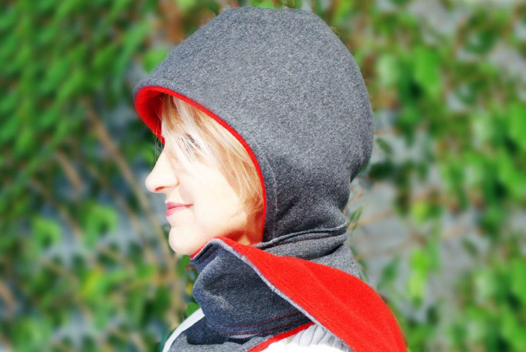 hooded scarf diy