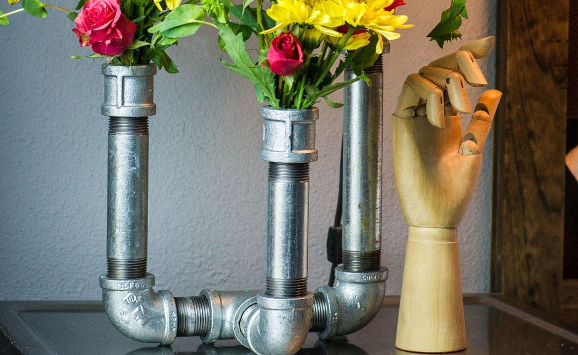 Industrial Chic: Galvanized Pipe Vase