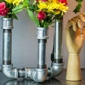 galvanized pipe vase DIY