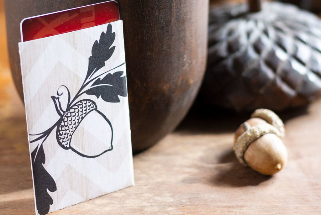 holiday gift card holder printable