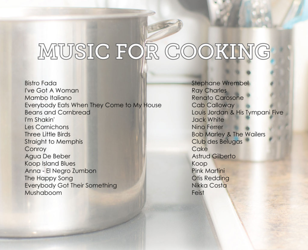music for cooking playlist