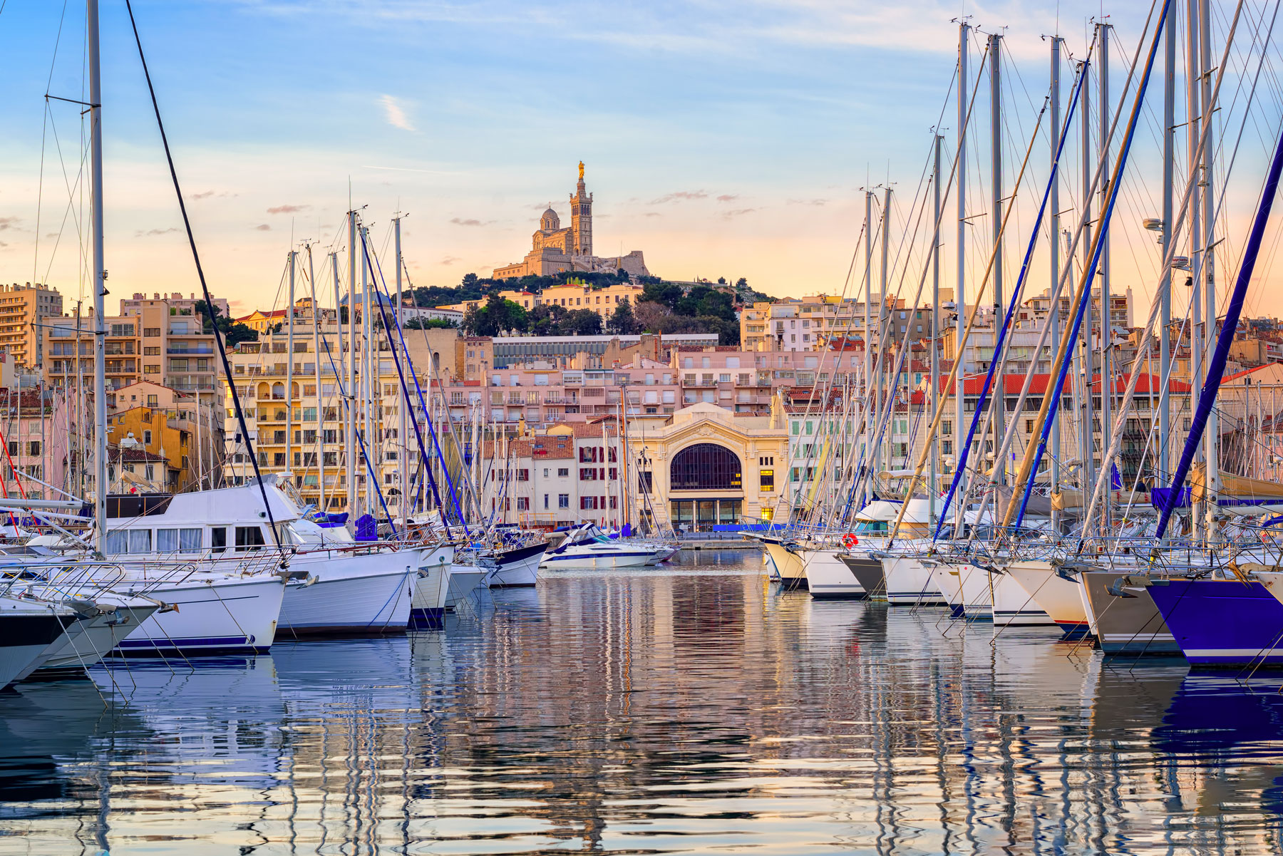vieux port in Marseille, France