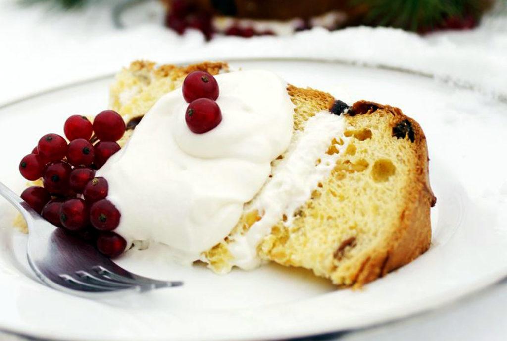 panettone with champagne cream recipe