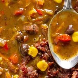 black bean and pastrami soup recipe