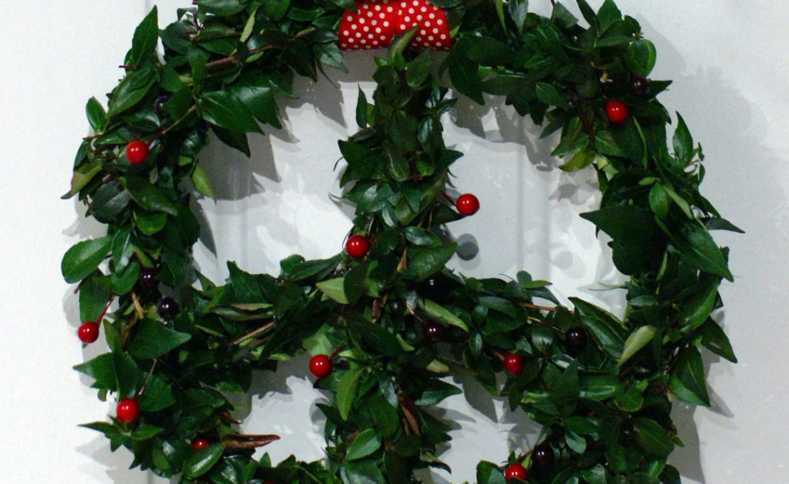 Holiday Upcycle:  Peace Wreath