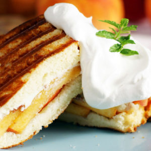 peaches and cream panini recipe
