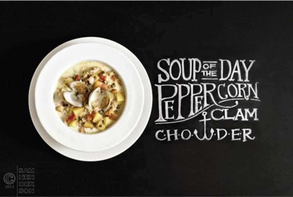 peppercorn clam chowder recipe