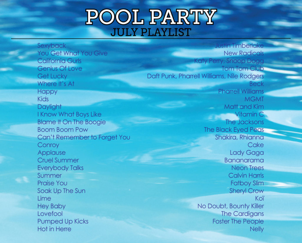 pool party playlist