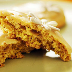 pumpkin cookie with salted caramel glaze recipe