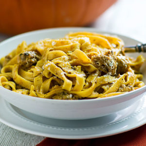 pumpkin fettuccine recipe