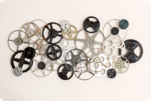 how to make wall art from vintage film reels