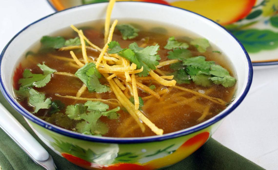 Lola Cooks:  Roasted Chicken Tortilla Soup