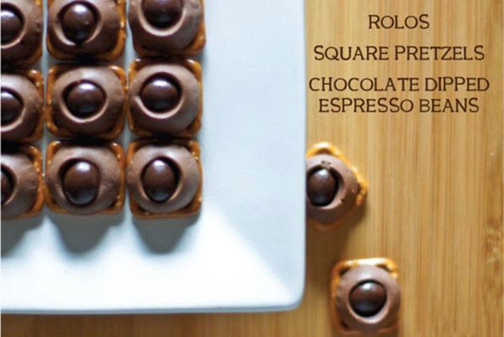 rolos and pretzels