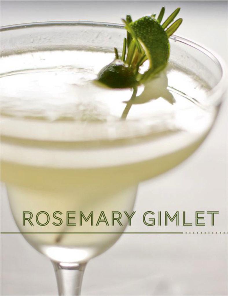 rosemary gimlet cocktail recipe