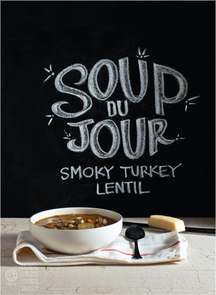 smoky turkey lentil soup recipe