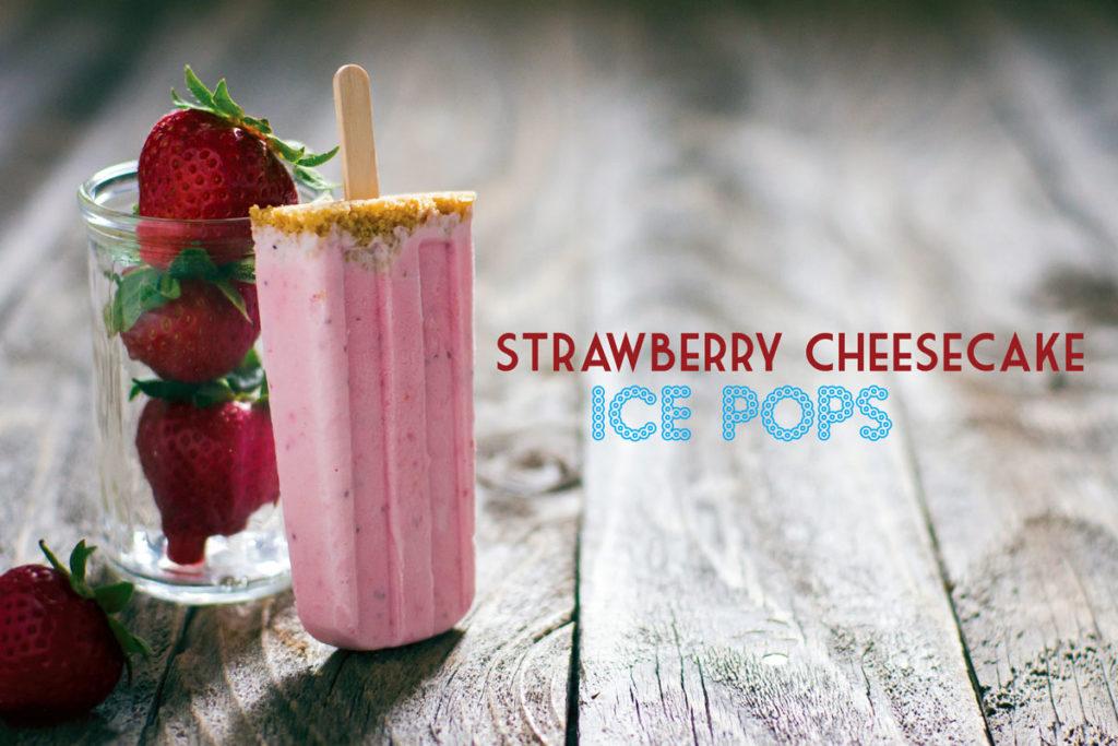 strawberry cheesecake ice pops recipe