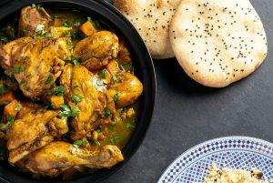 moroccan chicken and butternut squash tagine