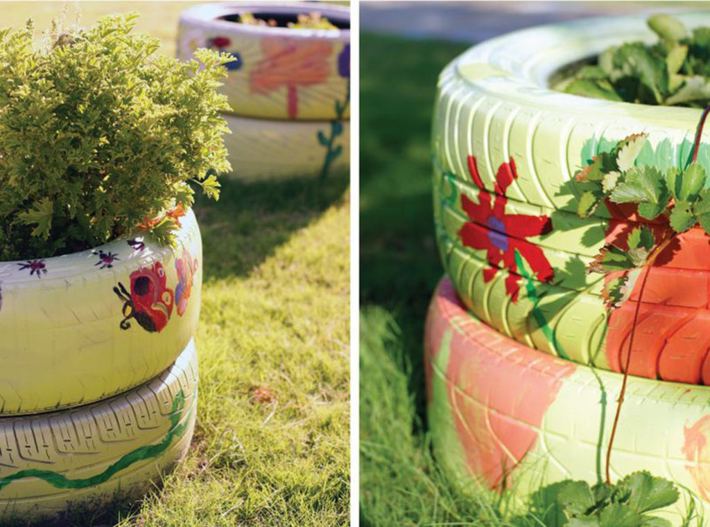 tire garden diy