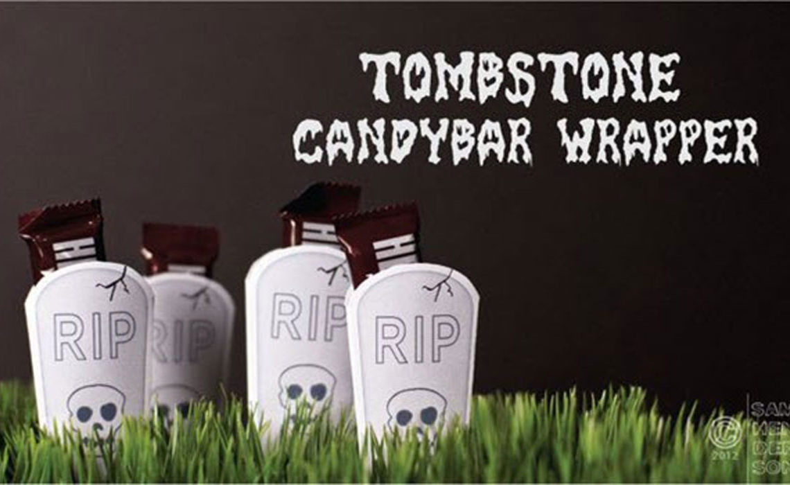 Halloween Craft: Tombstone Candy Bar Wrapper