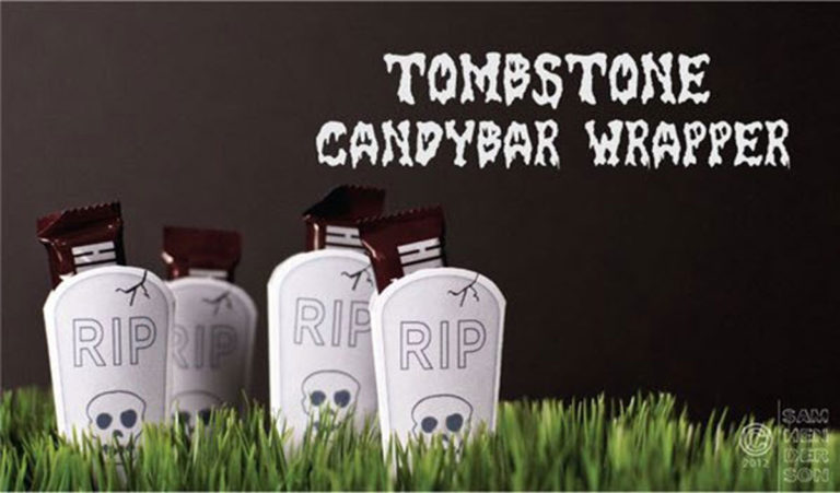 tombstone candy bar wrapper printable