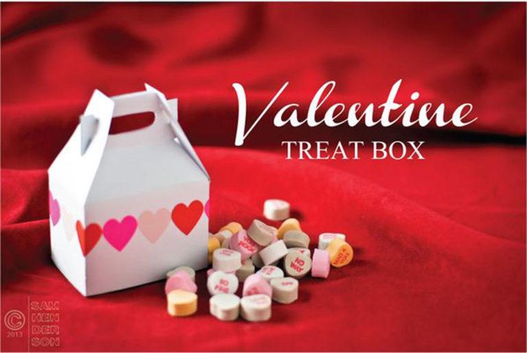 valentine gift box printable template