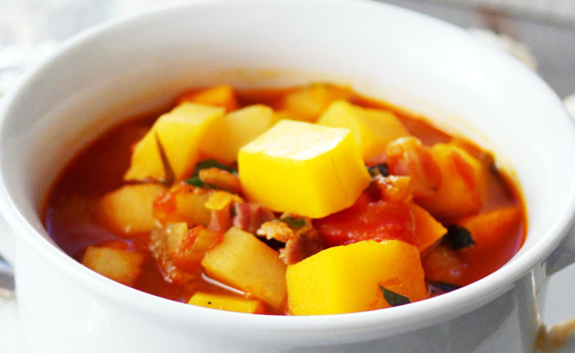 Getting Rooted:  Winter Vegetable Soup with Prosciutto